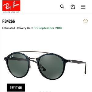 REAL ray bans RB4266 in color black